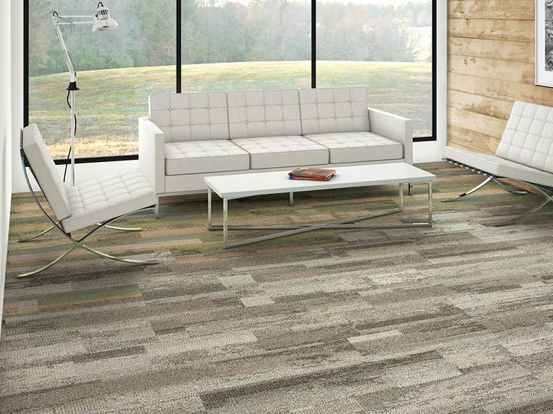 חיפויי רצפה, שטיח אריחים למשרד