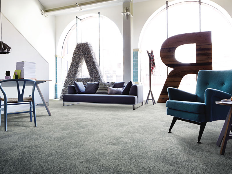 שטיח משרדי, חיפויי רצפה שטיח אריחי בצבע אפור