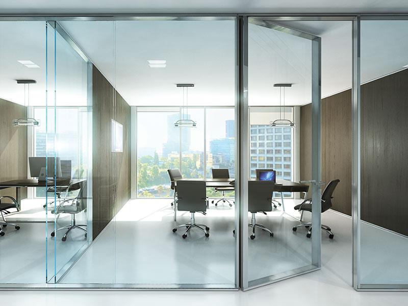 מערכת מחיצות זכוכית מינימליסטיות, מודולריות