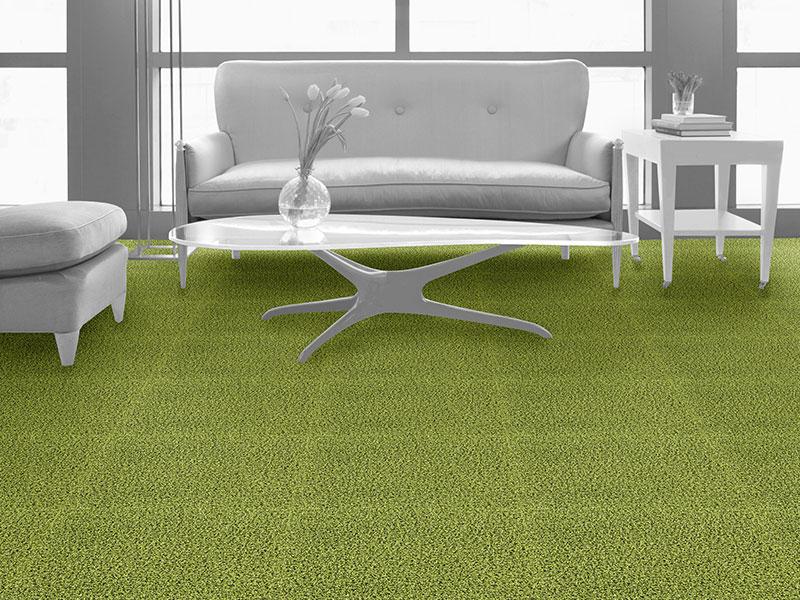שטיח משרדי, חיפויי רצפה שטיח אריחי בצבע ירוק בקבוק