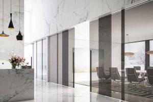 דלתות הזזה, דלתות ללא מסגרת זכוכית, חומה - אינובייט