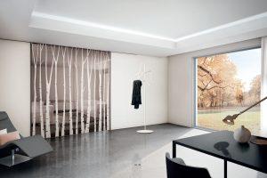 דלתות הזזה ללא מסגרת זכוכית, חומה ולבנה - אינובייט