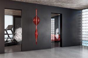 דלתות פתיחה זכוכית - זכוכית שקופה