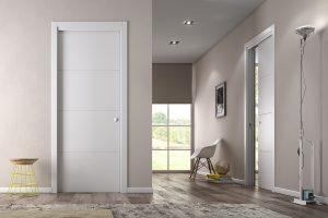 דלת הזזה כיסים סמויים צבע לבן
