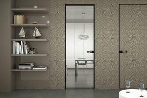 דלתות פתיחה משקוף אלומיניום -דלת מראה