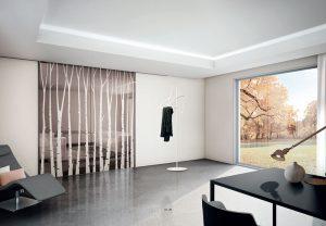 דלתות פתיחה זכוכית - דמוי עצים