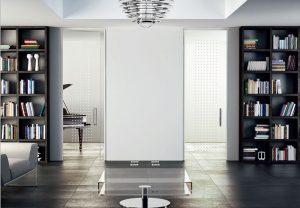 דלתות פתיחה זכוכית - לבן