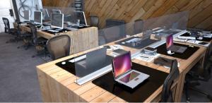 מחיצות שולחן מעוצבות להפרדה לפי התקן הסגול - אינובייט