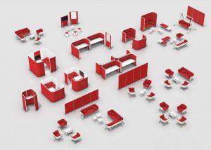 סדרת HUB - ריהוט משרדי משלים לאזורים שיתופיים