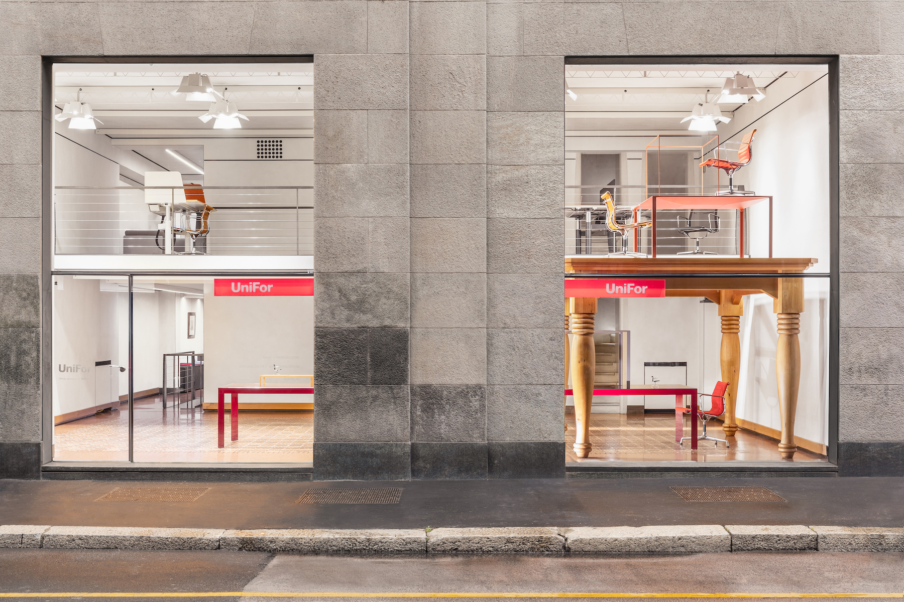 ה- showroom של המותג Unifor במילאנו | אינובייט
